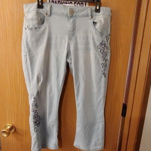 Sonoma embroidered destruction capris 16